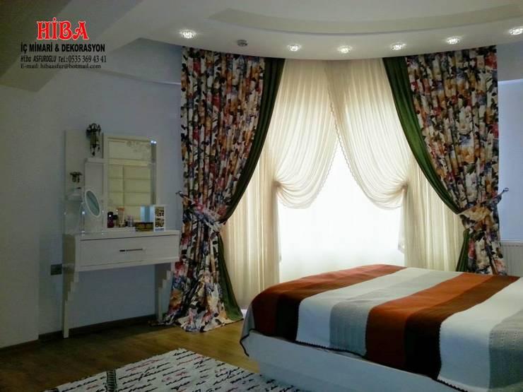 Hiba iç mimari ve dekorasyon – Ahmet Bilgin Evi: modern tarz Yatak Odası
