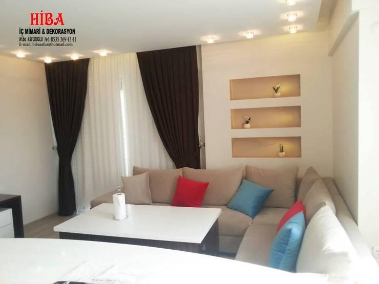 Hiba iç mimari ve dekorasyon – Ali Dablan Evi:  tarz Oturma Odası