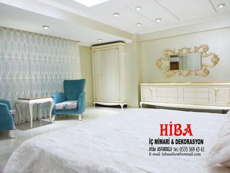 Hiba iç mimari ve dekorasyon – Bedi Samsum Dublexi:  tarz Yatak Odası