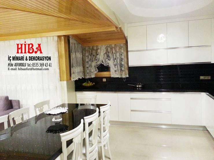 Hiba iç mimari ve dekorasyon – Bedi Samsum Dublexi:  tarz Mutfak
