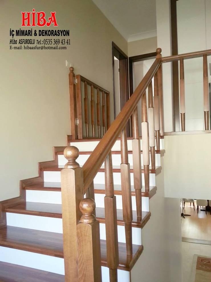 Hiba iç mimari ve dekorasyon – DR Sinem DR Olgun Karazincir Villası:  tarz Koridor ve Hol