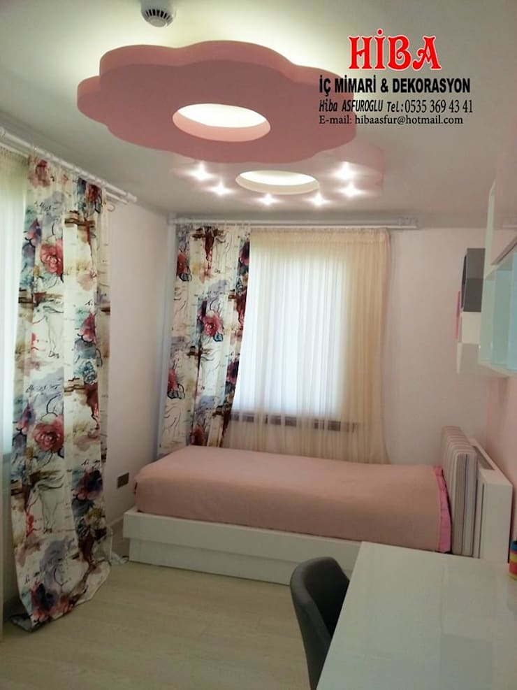 Hiba iç mimari ve dekorasyon – DR İlkay DR Musatafa Ödemiş Villası:  tarz Çocuk Odası