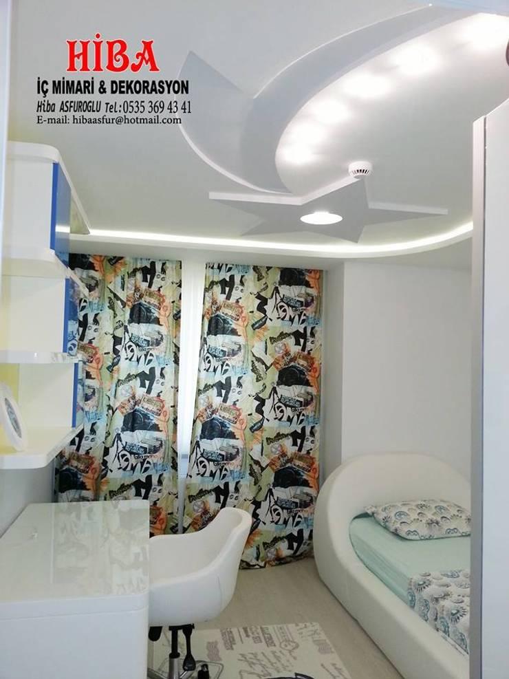 Hiba iç mimari ve dekorasyon – DR İlkay DR Musatafa Ödemiş Villası: modern tarz Çocuk Odası