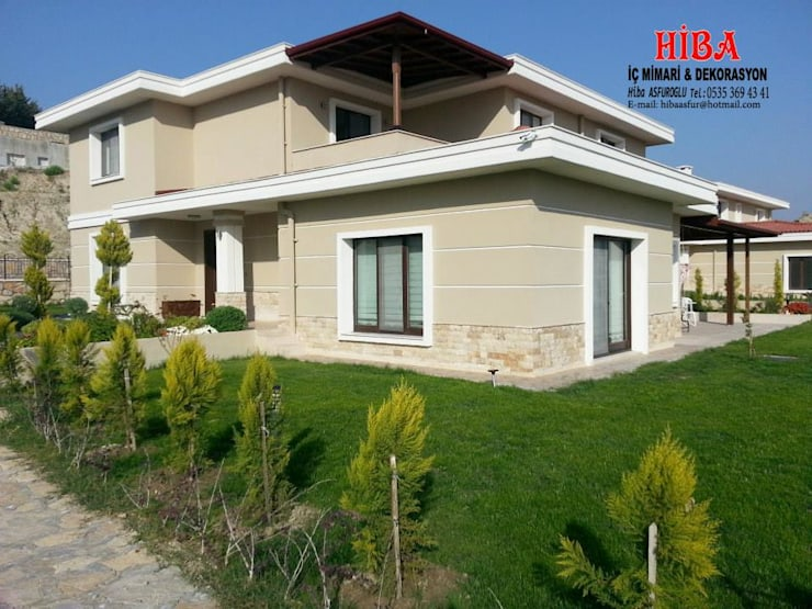 Hiba iç mimari ve dekorasyon – DR Sinem DR Olgun Karazincir Villası: modern tarz Evler