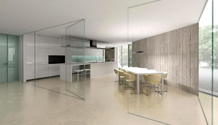 Dom minimalistyczny w okolicy Wrocławia: styl , w kategorii Kuchnia zaprojektowany przez ASA Autorskie Studio Architektury