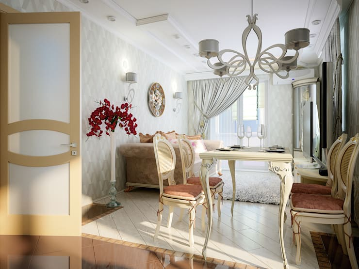 Квартира неоклассика: Гостиная в . Автор – Инна Михайская,
