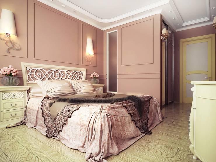 Квартира неоклассика: Спальни в . Автор – Инна Михайская,