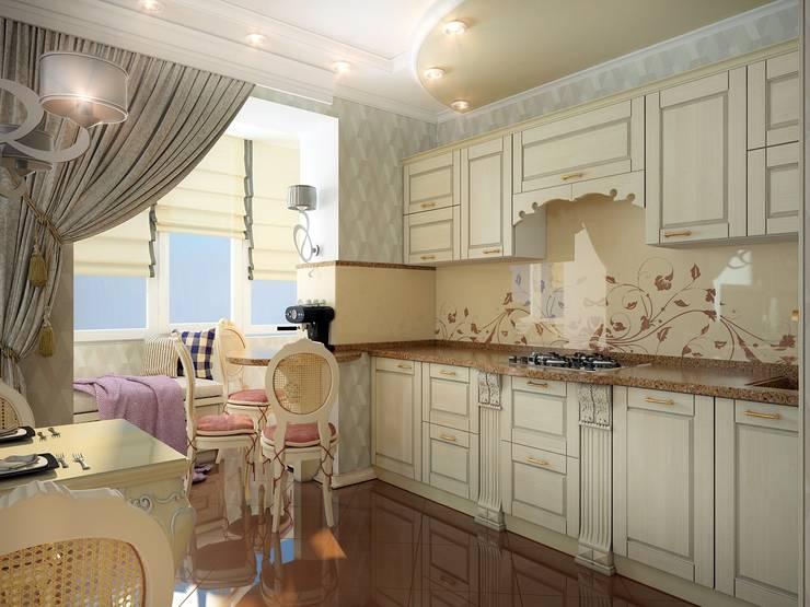 Квартира неоклассика: Кухни в . Автор – Инна Михайская