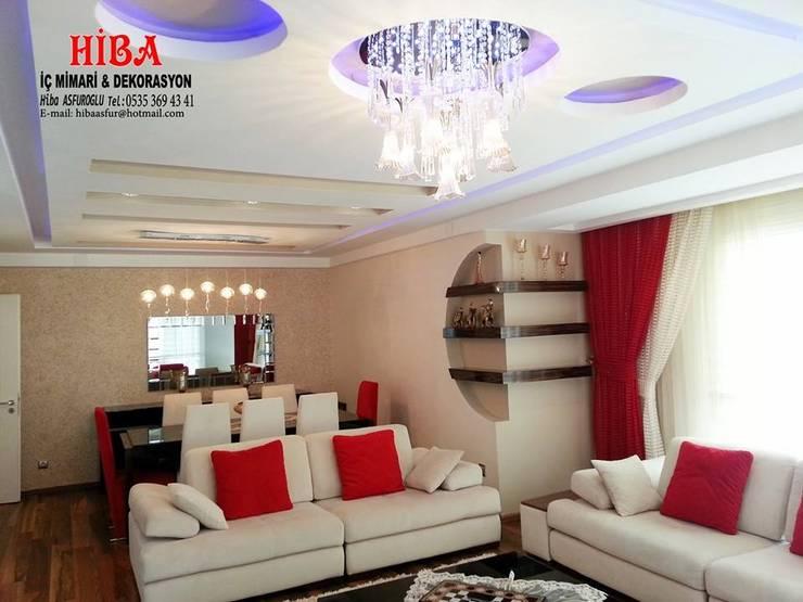 Hiba iç mimari ve dekorasyon – Semih Toplu Evi:  tarz Oturma Odası