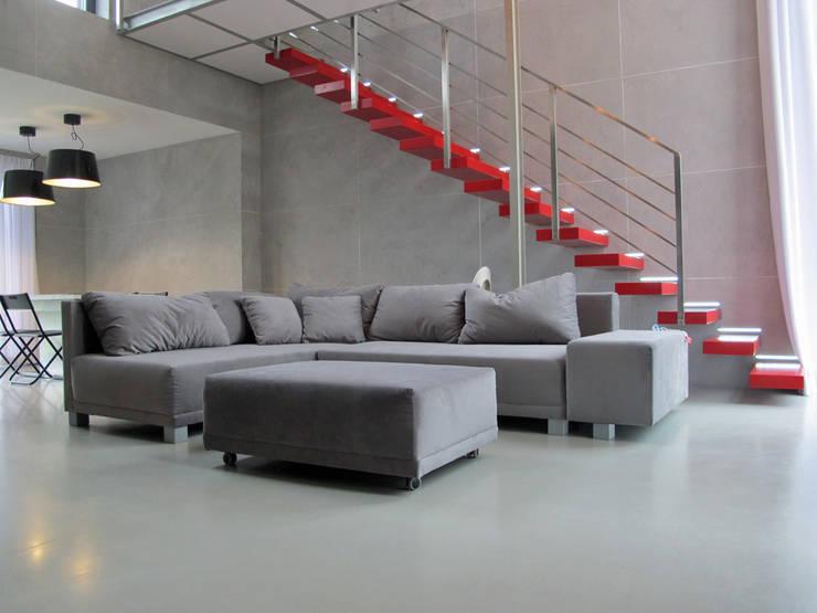 1: styl , w kategorii Salon zaprojektowany przez Projekt Kolektyw Sp. z o.o.
