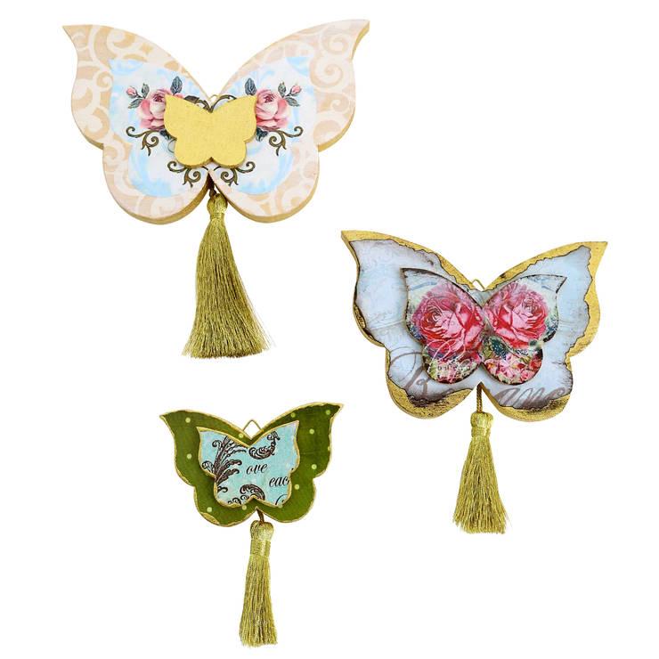 Orta Sofa – Püsküllü kelebek seti:  tarz İç Dekorasyon