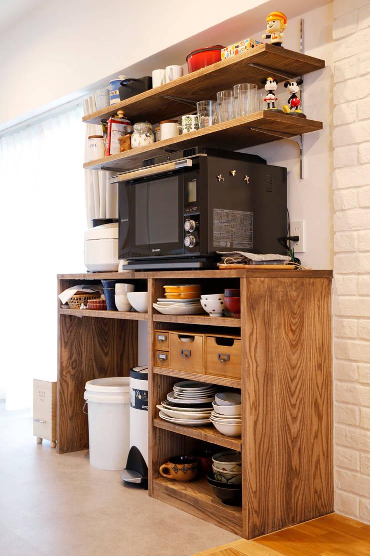 築34年マンションの劇的リノベーション!: 株式会社スタイル工房が手掛けたキッチンです。