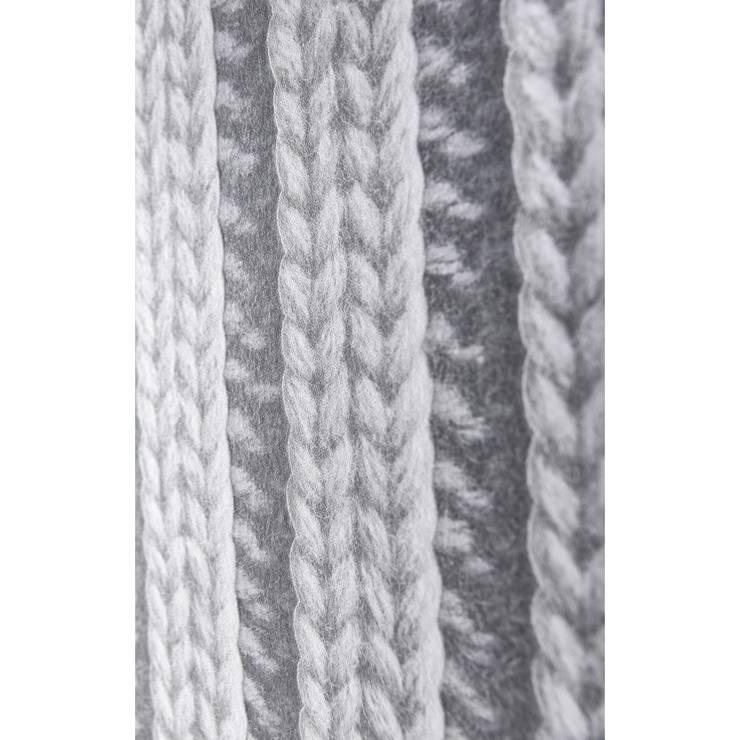 trompe l 39 oeil koziel papier peint tricot gris by koziel. Black Bedroom Furniture Sets. Home Design Ideas