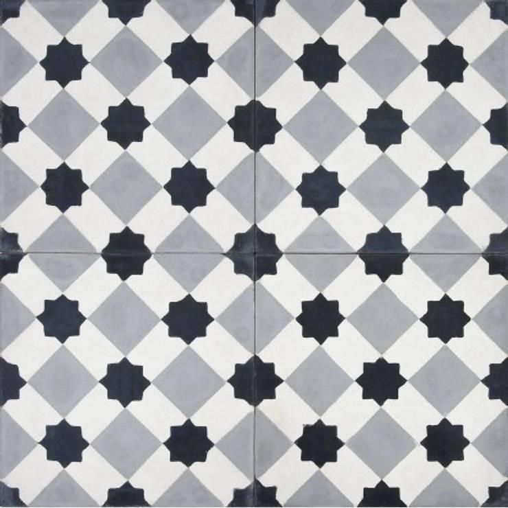 Płytki cementowe nr 301: styl , w kategorii Ściany i podłogi zaprojektowany przez Rogiński Warsztat Artystyczny - DomRustykalny.pl
