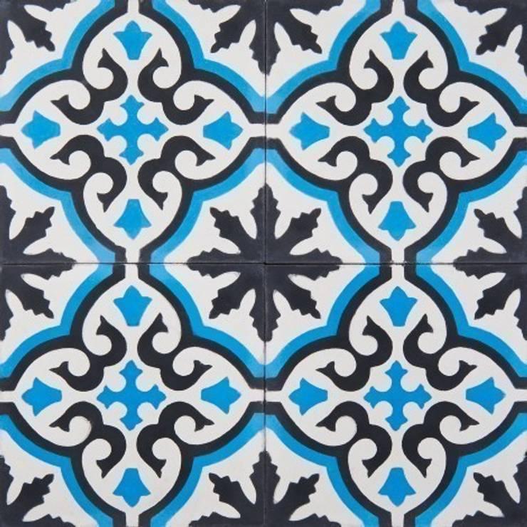 Płytki cementowe nr 455: styl , w kategorii Ściany i podłogi zaprojektowany przez Rogiński Warsztat Artystyczny - DomRustykalny.pl