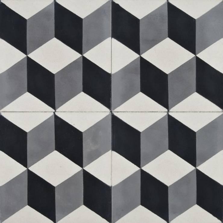 Płytki cementowe nr 360: styl , w kategorii Ściany i podłogi zaprojektowany przez Rogiński Warsztat Artystyczny - DomRustykalny.pl
