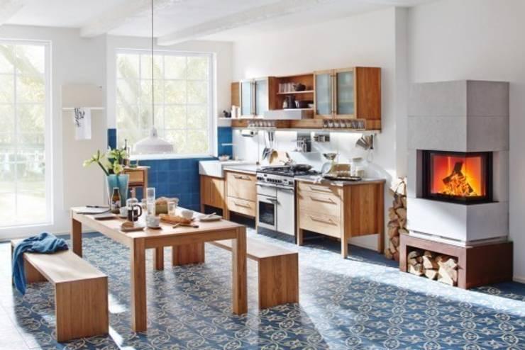 Kafle cementowe w kuchni - POLECAMY!: styl , w kategorii Ściany i podłogi zaprojektowany przez Rogiński Warsztat Artystyczny - DomRustykalny.pl