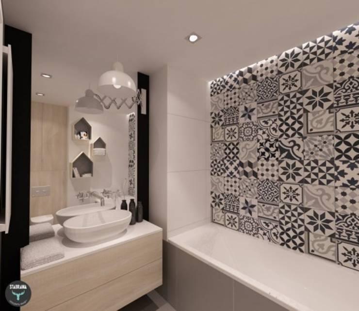 Płytki cementowe PATCHWORK BWG w łazience: styl , w kategorii Ściany i podłogi zaprojektowany przez Rogiński Warsztat Artystyczny - DomRustykalny.pl