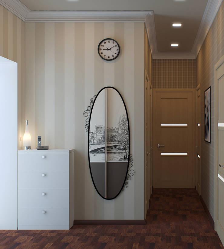 Квартира в Алексине: Коридор и прихожая в . Автор – Ин-дизайн