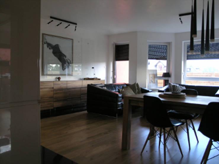 Salon: styl , w kategorii Salon zaprojektowany przez katarzynahabersack,Nowoczesny