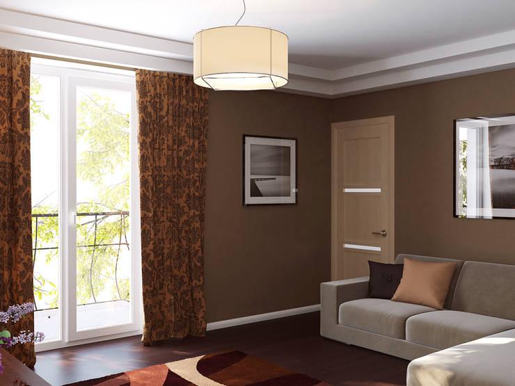 Квартира в Алексине: Гостиная в . Автор – Ин-дизайн