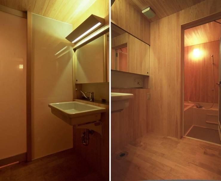 洗面所: 家山真建築研究室 Makoto Ieyama Architect Officeが手掛けた浴室です。