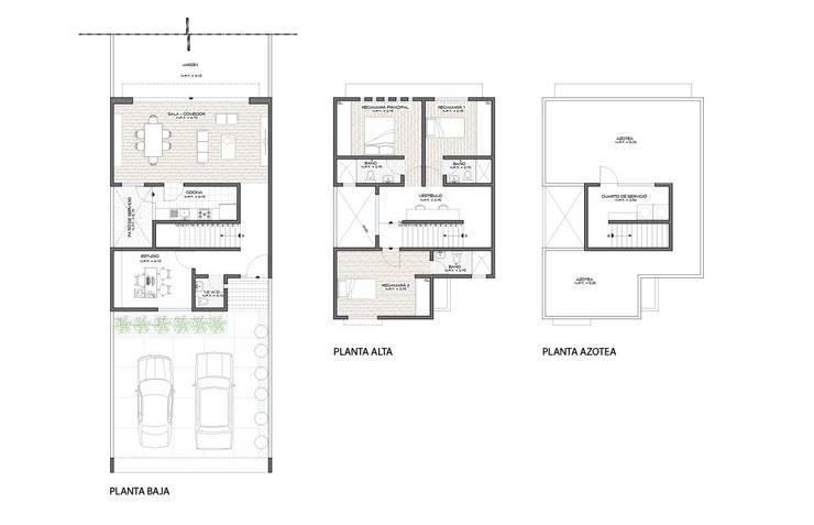 Casas de estilo  por ODRACIR