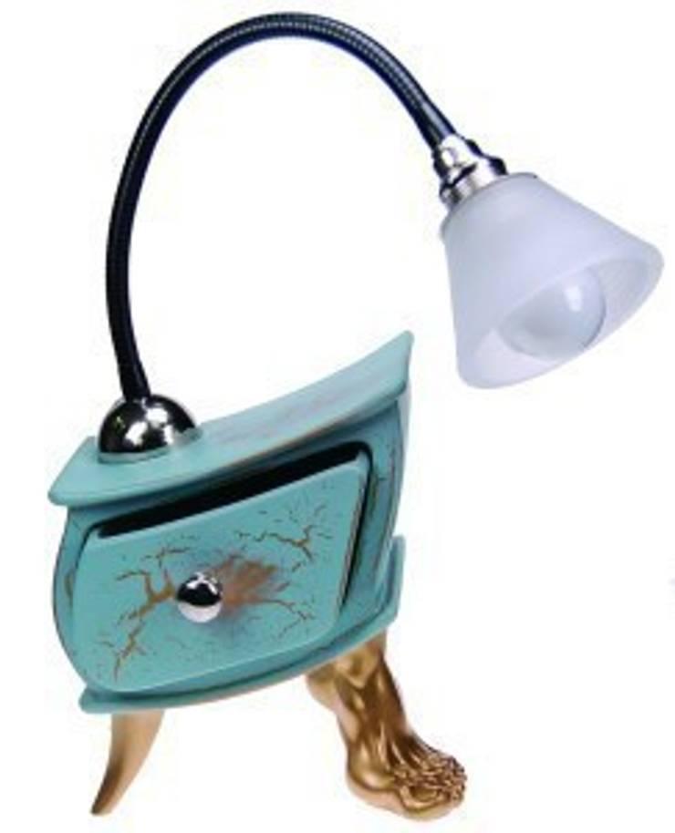 Vago Minds Ltd. – Çekmeceli Masa Lambası / Lamp Slate:  tarz , Rustik