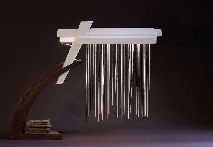 Bureaulamp (XVII):  Woonkamer door atelier De Zondagse Kamer