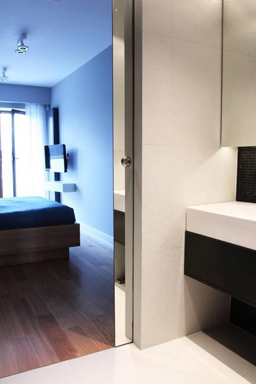 Mieszkanie przy parku: styl , w kategorii Łazienka zaprojektowany przez Hanna Pietras Pracownia Architektoniczna