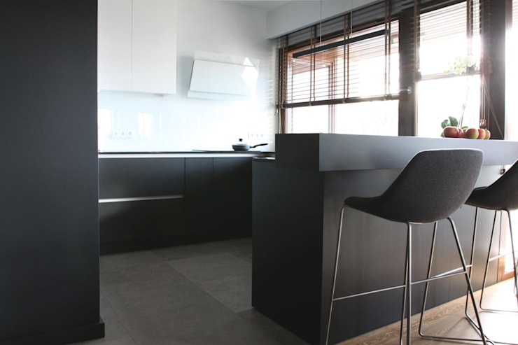 Mieszkanie przy parku: styl , w kategorii Kuchnia zaprojektowany przez Hanna Pietras Pracownia Architektoniczna