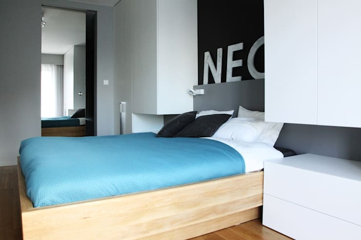 Mieszkanie przy parku: styl , w kategorii Sypialnia zaprojektowany przez Hanna Pietras Pracownia Architektoniczna