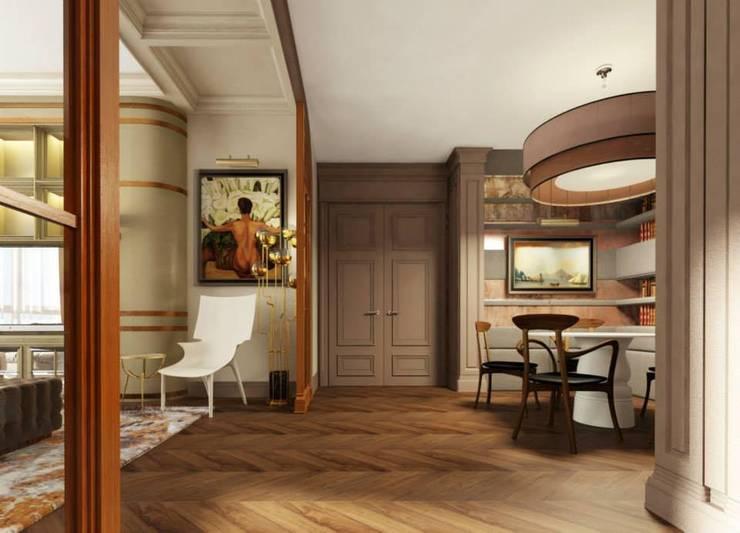 Квартира в ЖК «ЛИТЕРАТОР»: Столовые комнаты в . Автор – KOSHKA INTERIORS