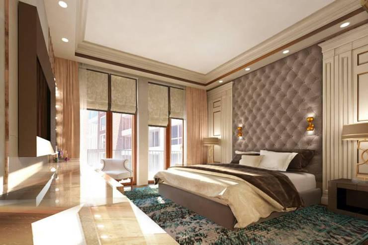 Квартира в ЖК «ЛИТЕРАТОР»: Спальни в . Автор – KOSHKA INTERIORS