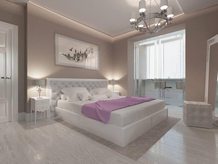 Современная квартира в Тюмени: визуализация: Спальни в . Автор – OK Interior Design,