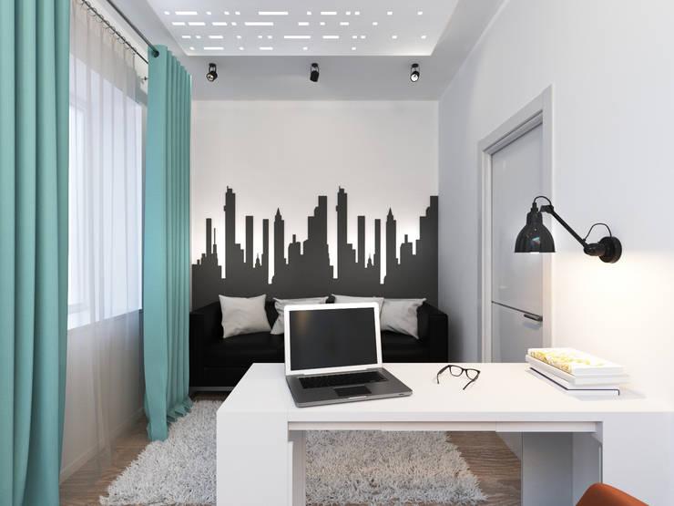 Кабинет в современной квартире: визуализация : Рабочие кабинеты в . Автор – OK Interior Design