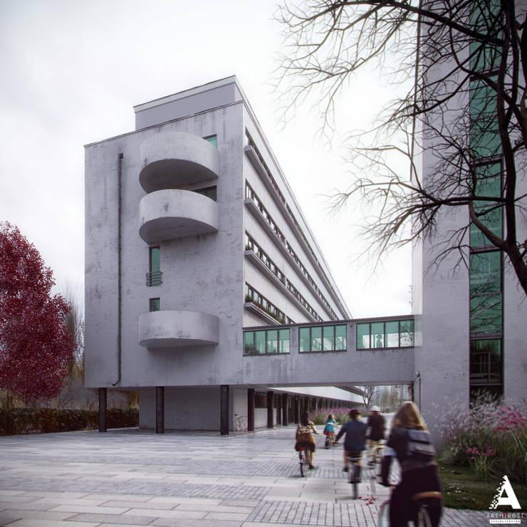 3D-реконструкция дома-коммуны Наркомфина: Дома в . Автор – Аrchirost