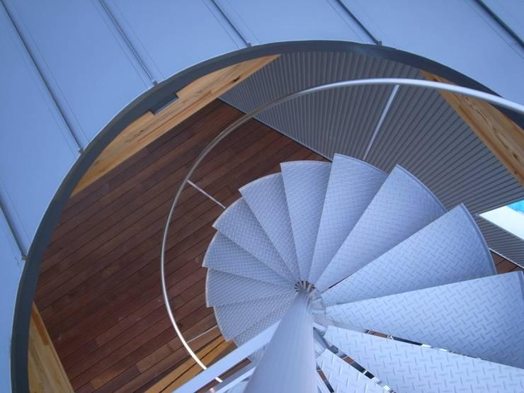 K-house らせん階段: 株式会社 森本建築事務所が手掛けた廊下 & 玄関です。,モダン