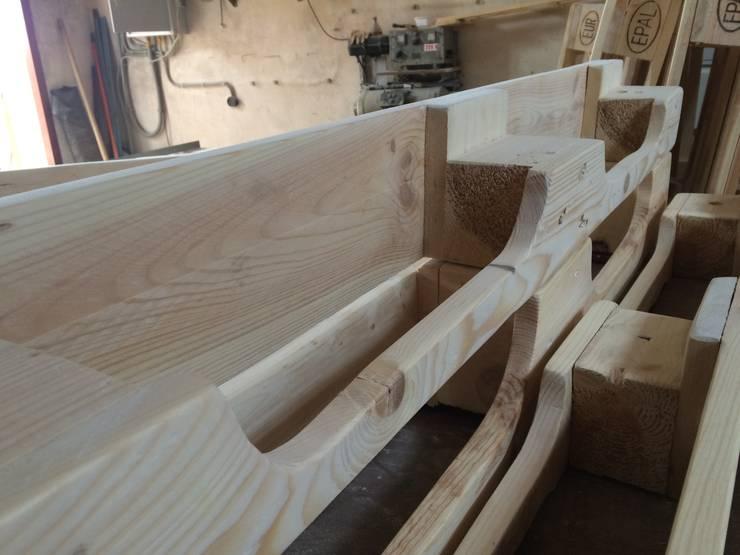 Рабочий процесс. : Гостиная в . Автор – WoodMorning!_pallet joinery