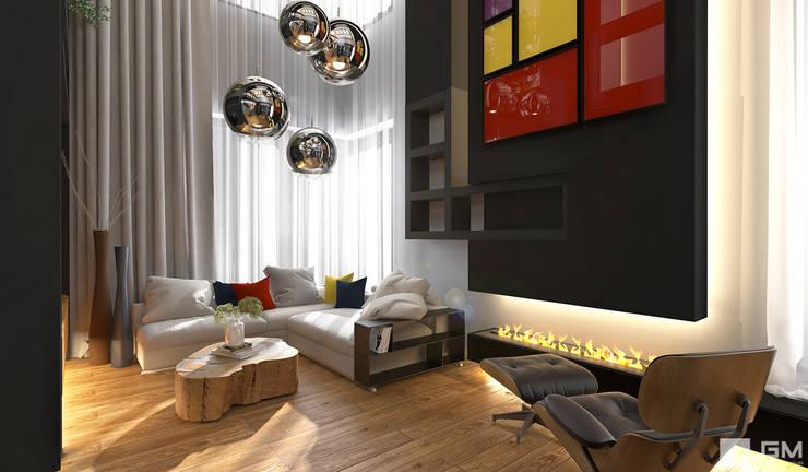 Интерьер дома в современном стиле : Гостиная в . Автор – GM-interior,
