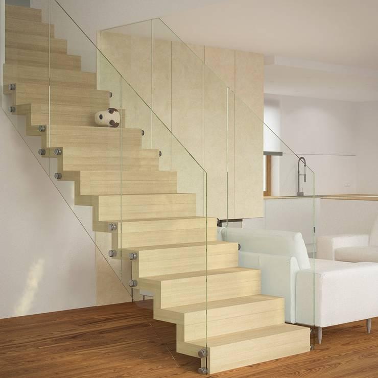 DOM W LUBLINIE: styl , w kategorii Korytarz, przedpokój zaprojektowany przez Kunkiewicz Architekci ,Minimalistyczny