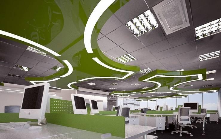 BIUROWIEC W LUBLINIE: styl , w kategorii Biurowce zaprojektowany przez Kunkiewicz Architekci ,Nowoczesny