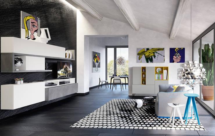 غرفة المعيشة تنفيذ Nespoli 3d