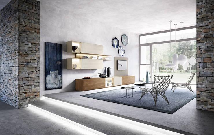 Projekty,  Salon zaprojektowane przez Nespoli 3d