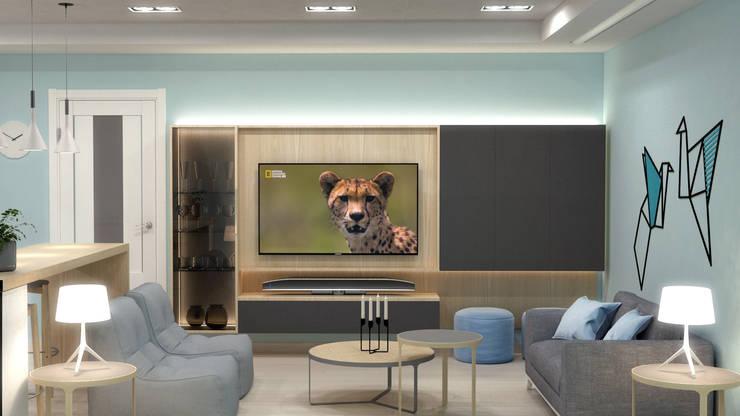 Zona de estar: Salas multimedia de estilo  de AG INTERIORISMO