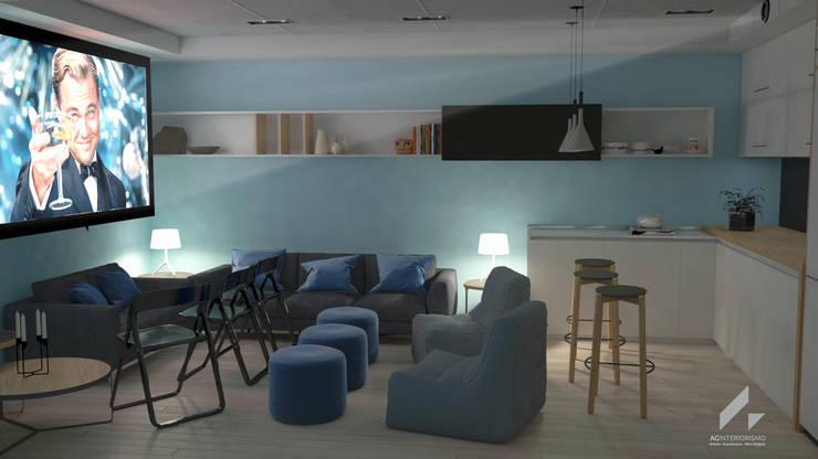 Transformación en sala de cine: Salas multimedia de estilo  de AG INTERIORISMO