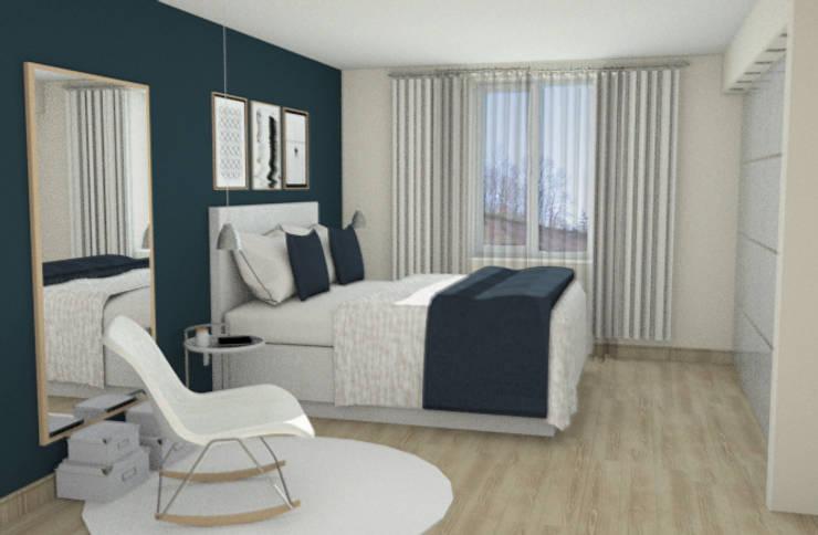 Chambre parentale: Chambre de style de style Moderne par APMS architectes