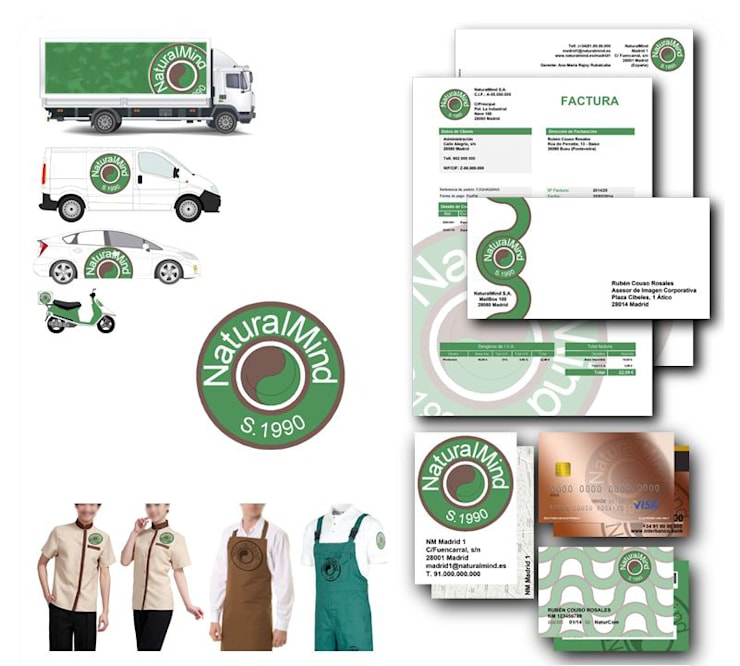 Básico de Imagen Corporativa: Espacios comerciales de estilo  de [ interitect ]