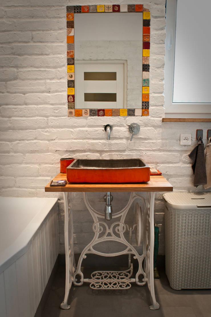 umywalka: styl , w kategorii Łazienka zaprojektowany przez dekornia,Industrialny
