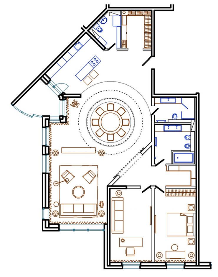 План помещений: Окна в . Автор – ART-INTERNO,